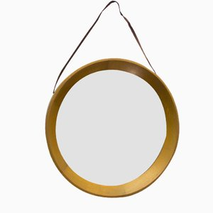 Danish Circular Wall Mirror, 1970s