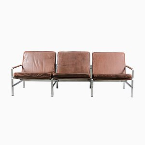 Mid-Century FK 6720 3-Seat Sofa by Preben Fabricius & Jørgen Kastholm for Kill International