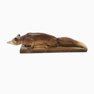 Figurine Mid-Century en Céramique de Lemanceau