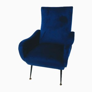 Blaue Sessel, 1960er, 2er Set