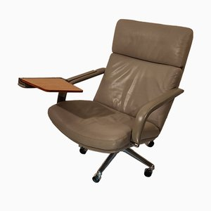 Mid-Century Leather F141 Swivel Chair by Geoffrey Harcourt for Artifort