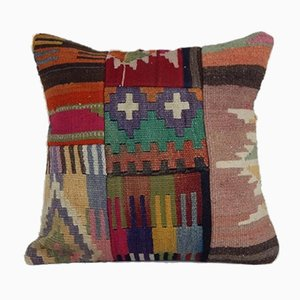 Woven Kilim Rug Cushion Cover from Vintage Pillow Store Contemporary