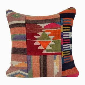 Turkish Patchwork Kilim Cushion Cover from Vintage Pillow Store Contemporary