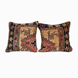 Turkish Animal Pattern Kilim Cushion Cover from Vintage Pillow Store Contemporary, Set of 2