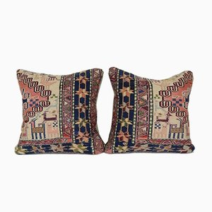 Türkischer Tiermuster Kilim Kissenbezug von Vintage Pillow Store Contemporary, 2er Set