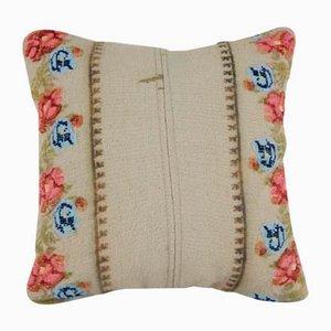Floraler Türkischer Kilim Kissenbezug von Vintage Pillow Store Contemporary