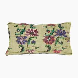 Embroidered Handmade Aubusson Style Cushion Cover from Vintage Pillow Store Contemporary