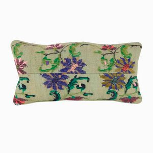 Handwoven Floral Pattern Kilim Cushion Cover from Vintage Pillow Store Contemporary