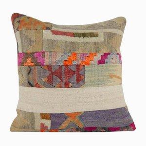 Housse de Coussin Kilim Patchwork de Vintage Pillow Store Contemporary, Turquie