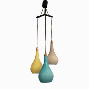 Murano Dreifache Deckenlampe von Gino Vistosi für Vistosi, 1960er