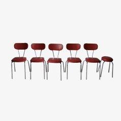 Chaises de Salon et Tabouret Vintage