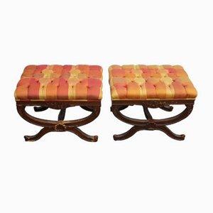 Mahogany Footstools, 1960s, Set of 2