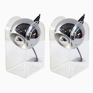 Lámparas de mesa italianas minimalistas de Insta Sensorette, años 70. Juego de 2