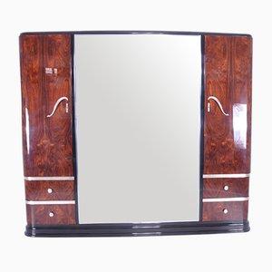 Art Deco Kleiderschrank mit Spiegel aus Palisander, 1920er