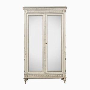 Antique Louis XVI Mirror Armoire