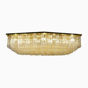 Lámpara de araña Tronchi grande de cristal de Murano, años 70