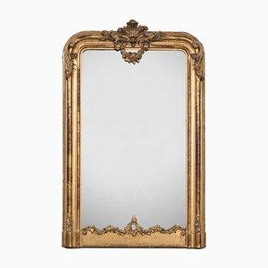 Miroir Antique avec Cadre en Bois Doré, France