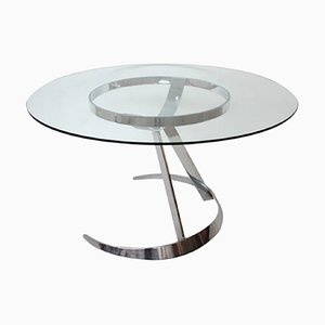 Space Age Model Scimitar Dining Table by Boris Tabacoff for Mobilier Modular Moderne, 1970s