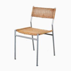 Niederländische Korbgeflecht Stühle von Martin Visser für t Spectrum, 1960er, 4er Set