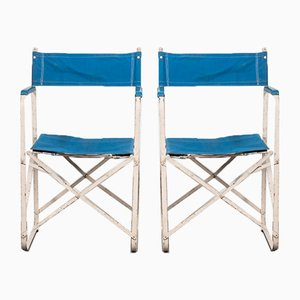Mid-Century Folding Camp Chairs, Set of 2