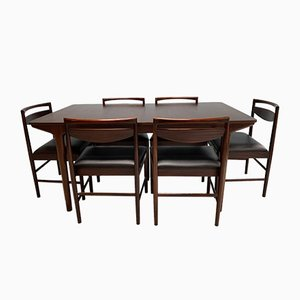 Rosewood Dining Table & Chairs Set from McIntosh, 1960s, Set of 7