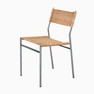 Chaise en Osier par Martin Visser pour t Spectrum, Pays-Bas, années 60
