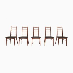 Mid-Century Model Lis Dining Chairs by Niels Koefoed for Hornslet Møbelfabrik, 1960s, Set of 5