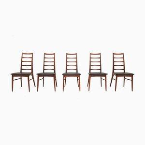 Mid-Century Modell Lis Esszimmerstühle von Niels Koefoed für Hornslet Møbelfabrik, 1960er, 5er Set