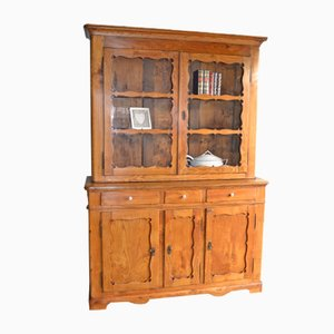 Antique Biedermeier Elm Cabinet