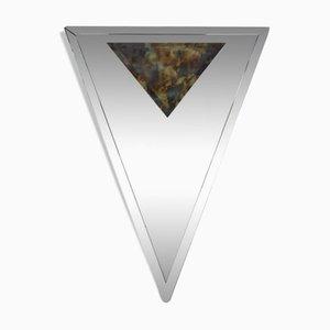 Espejo Art Déco triangular biselado