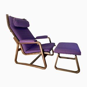 Sessel mit Fußhocker von Ditte & Adrian Heath für France & Søn / France & Daverkosen, 1970s