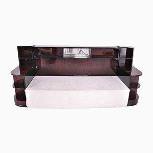 Sofá cama francés Art Déco de palisandro, años 20