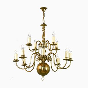 Antique Brass 12-Light Chandelier