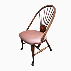 Antique Victorian Spindle Back Hall Chair