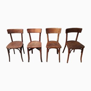 Mid-Century Bistro Dining Chairs, Set of 4