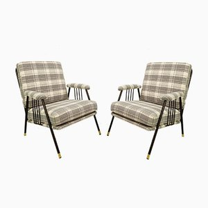 Mid-Century Italian Armchairs, Set of 2