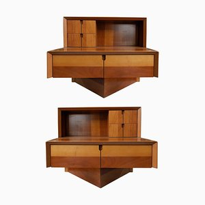 Mid-Century Italian Nightstands, Set of 2