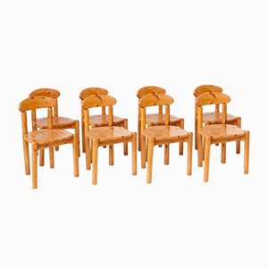 Mid-Century Holz Esszimmerstühle, 8er Set