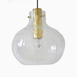 Glass Ceiling Lamp from Limburg, 1960s