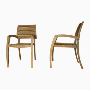 Teak Armchairs, 2000s, Set of 2