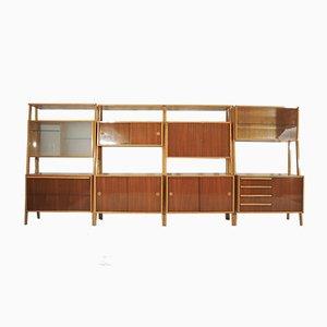 Großes Modulares Wandregal, 1970er, 4er Set