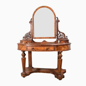 Antique Victorian Walnut Dressing Table