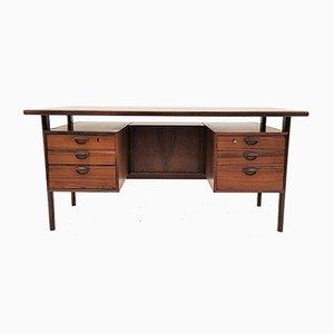 Mid-Century Rosewood Model 59 Desk by Kai Kristiansen for Feldballes Møbelfabrik, 1960s