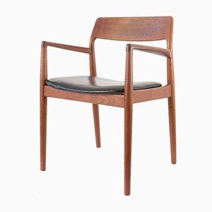 Dänischer Armlehnstuhl aus Teak & Leder von Scantic, 1960er