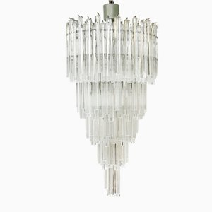 Lámpara de araña vintage de cristal de Murano