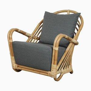 Vintage Rattan Model Charlottenborg Armchair by Arne Jacobsen