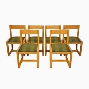 Chaises de Salle à Manger Mid-Century en Bois, Set de 6
