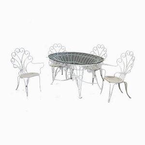 Set de Table et Chaises de Jardin, années 60, Set de 5