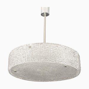 Mid-Century Structured Glass Pendant Lamp from Kaiser Idell / Kaiser Leuchten, 1960s