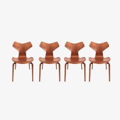 Grand Prix Chairs by Arne Jacobsen for Fritz Hansen, Set of 4